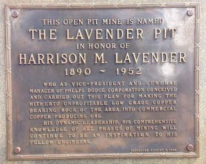 Harry Lavender plaque