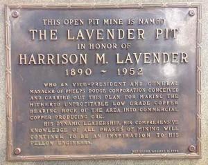Harry Lavender plaque