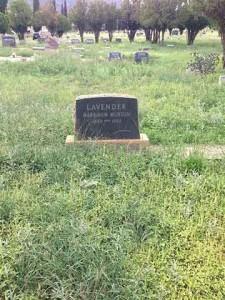 Harry Lavender tombstone
