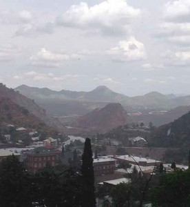 Rainy day view from Bisbee to Warren